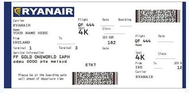 Fake Ticket Maker. Fake Boarding Pass Guy Reports He Was Visited