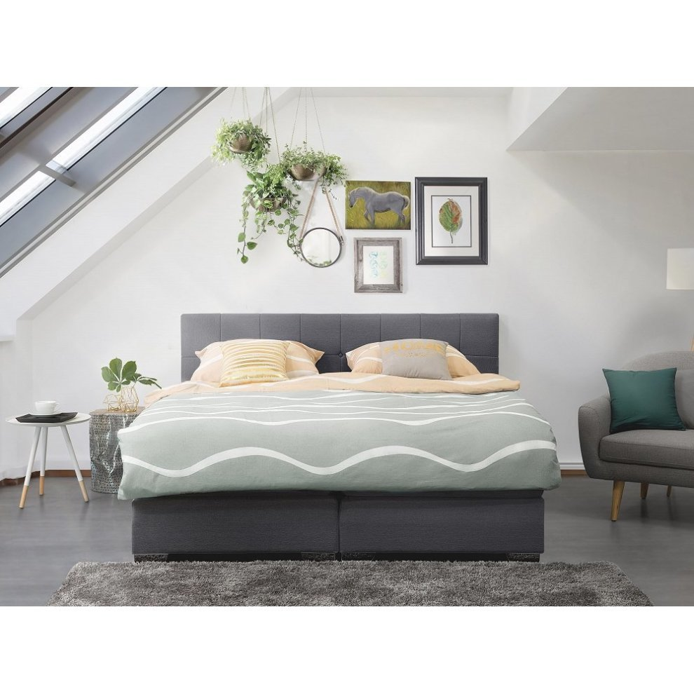 Boxspring 180x200 Super King Size Bed Pocket Sprung Mattress Box Spring 180x200 Cm Admiral
