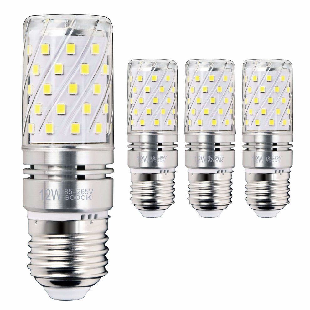 E27 Led 100w Hzsane E27 Led Corn Bulbs 12w 100w Incandescent Bulbs Equivalent 6000k Daylight White 1200lm Edison Screw Led Light Bulbs Non Dimmable 4 Pack