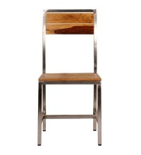 Mint Steel Frame Wooden Chair by Mudramark Online ...