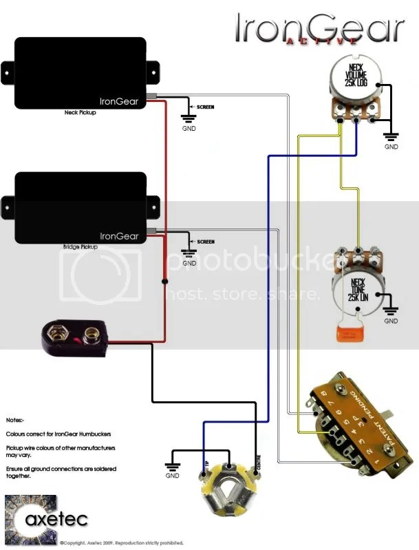 Guitar Wiring Diagrams 2 Humbucker 3 Way Toggle Switch Online