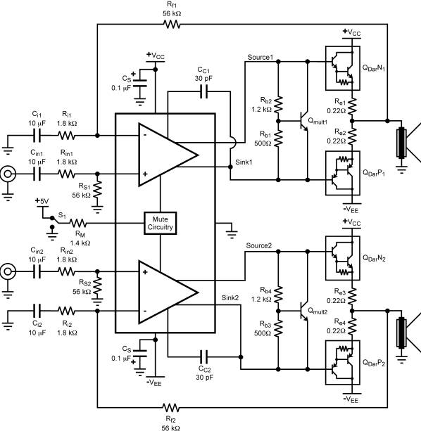 high power car audio amplifier circuit