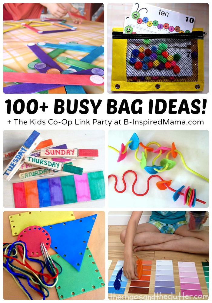 Over 100 Awesome Busy Bag Ideas For Toddlers And