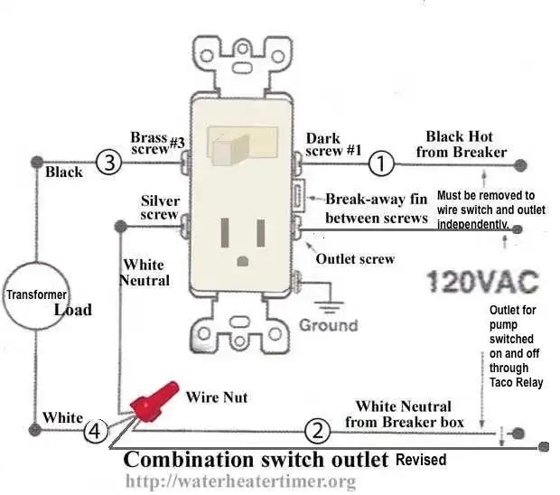 wiring diagram for switch outlet combo
