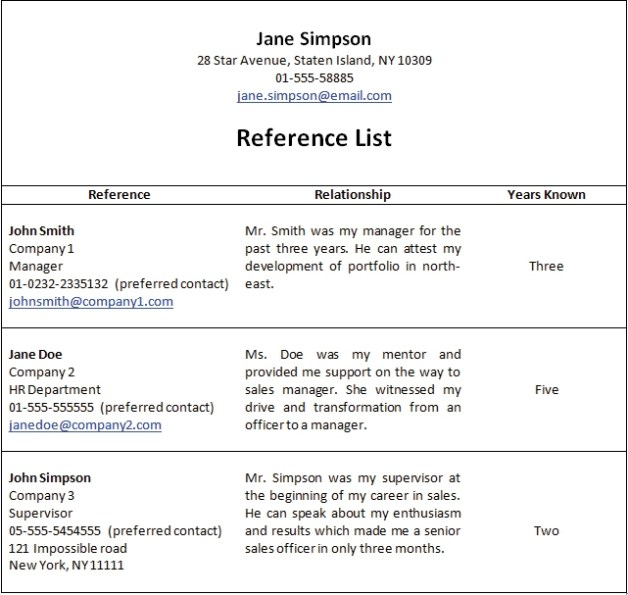 reference available upon request resume example