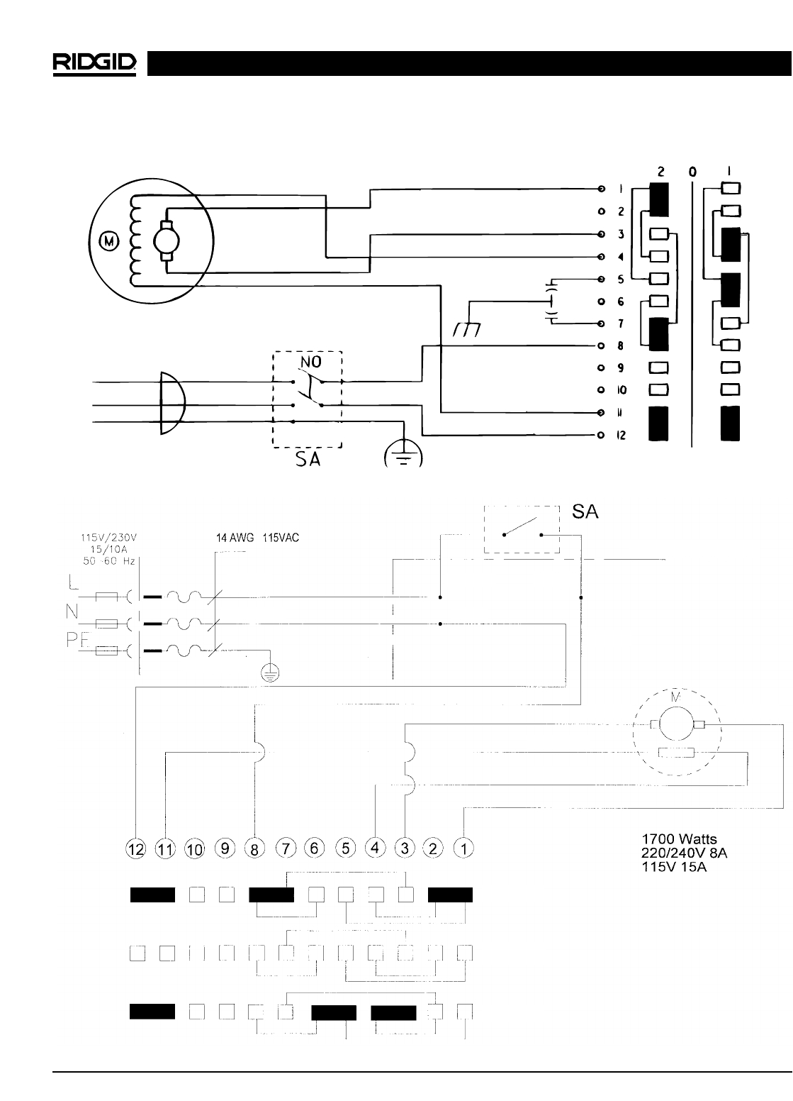 220 wiring diagram for well pump