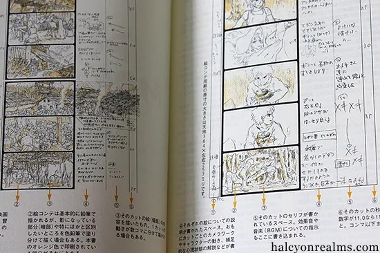Princess Mononoke - The Storyboard Book - Halcyon Realms - Art Book - anime storyboard