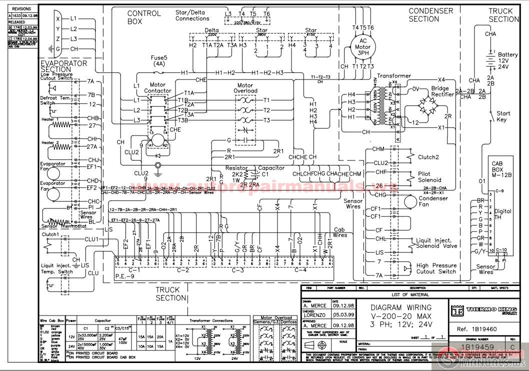 thermo king v250 wiring diagram