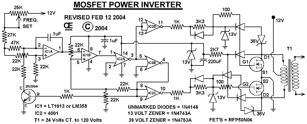 500 watts inverter circuit diagram