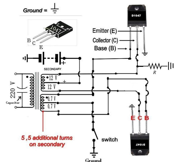how to build a 12 vdc to 220 vac power inverter ups