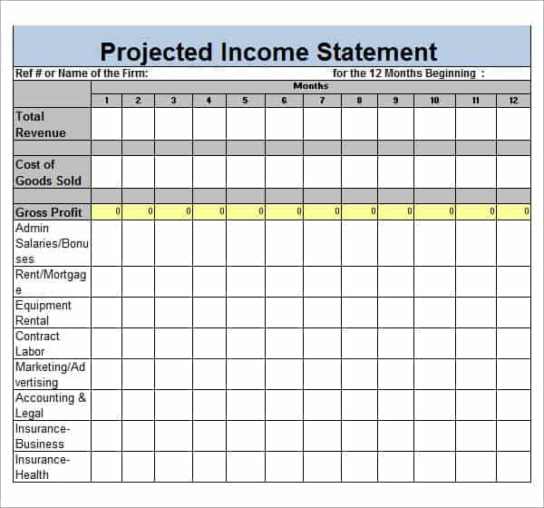 income report template - Goalblockety