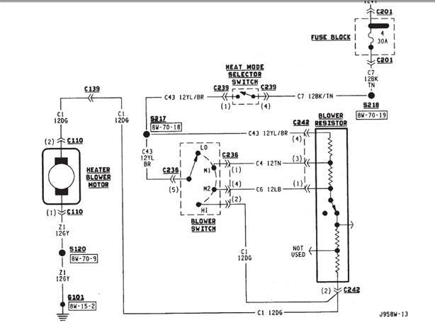 1992 jeep Motor diagram