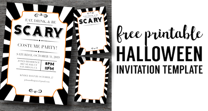 Halloween Invitations Free Printable Template - Paper Trail Design - Invitations Templates