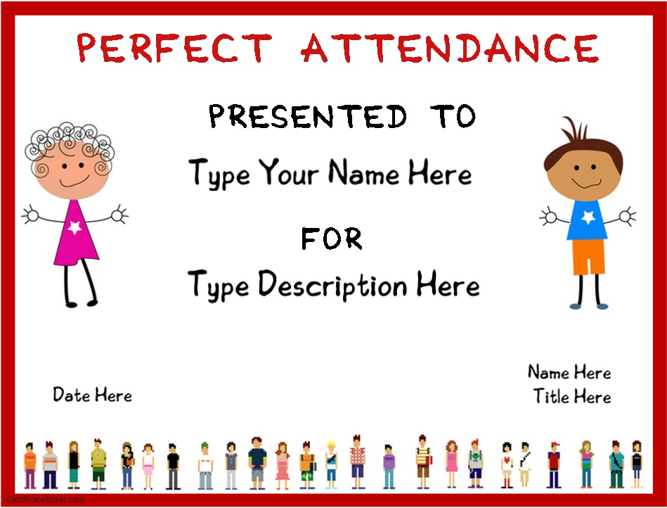 8 Free Sample Attendance Certificate Templates - Printable Samples