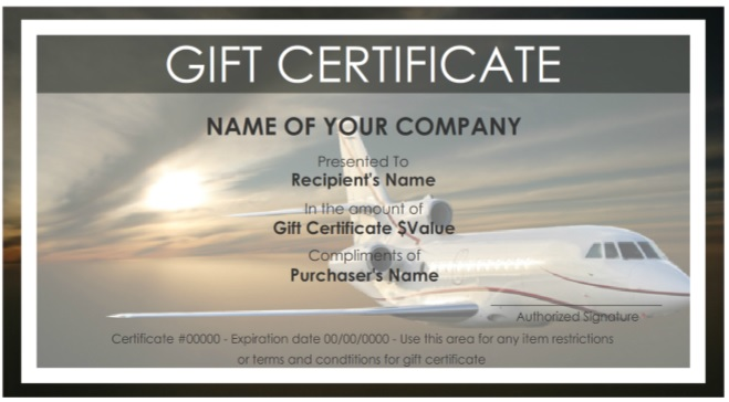 7 Free Sample Travel Gift Certificate Templates - Printable Samples - Travel Gift Certificate Template Free