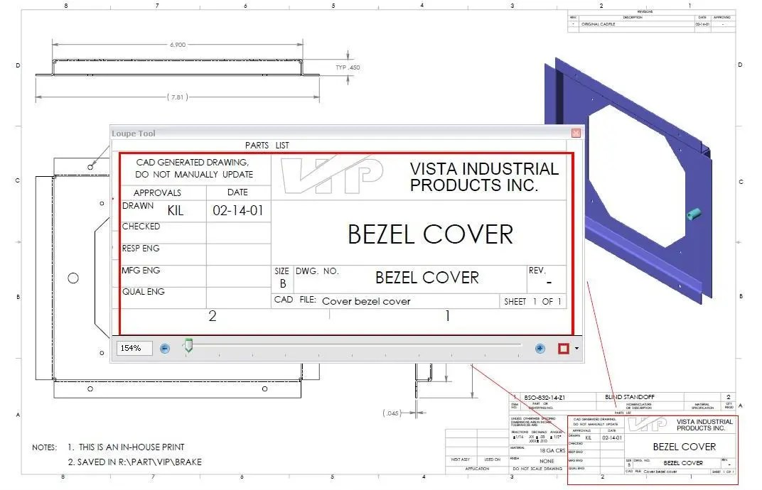 How to Read a Manufacturing Drawing Vista Industrial Products, Inc - reading blueprints
