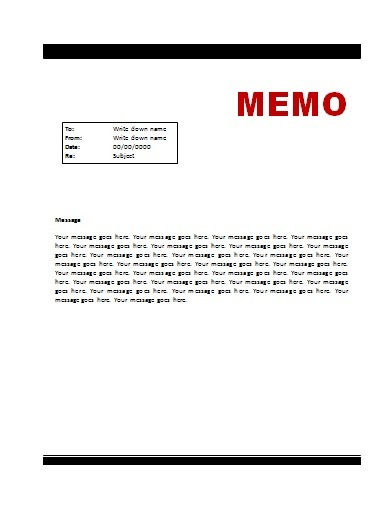 External memo Free Word Templates