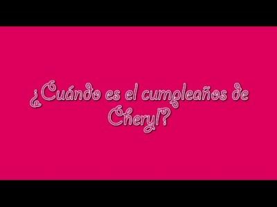 Solución del cumpleaños de Cheryl (Singapur)...
