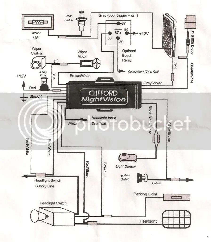 night vision camera wiring diagram