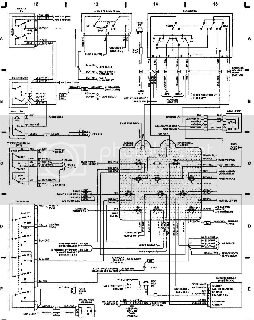 1990 jeep wrangler wiring harness diagram