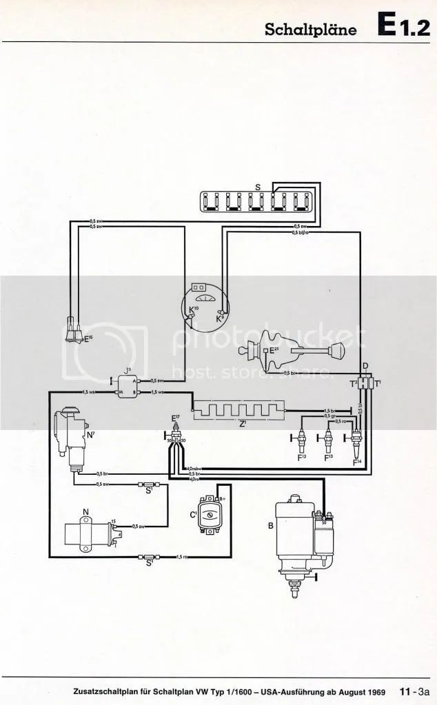 wiring diagrams for 1970 vw fast back