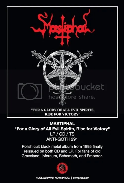 Mastiphal \u201cFor a Glory of All Evil Spirits, Rise For Victory\u201d LP/CD