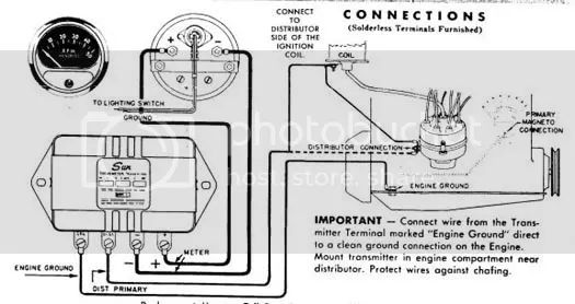 moon tachometer wiring