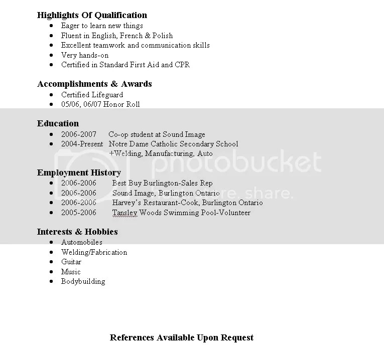 review my resume(quick) - Ultimate Guitar