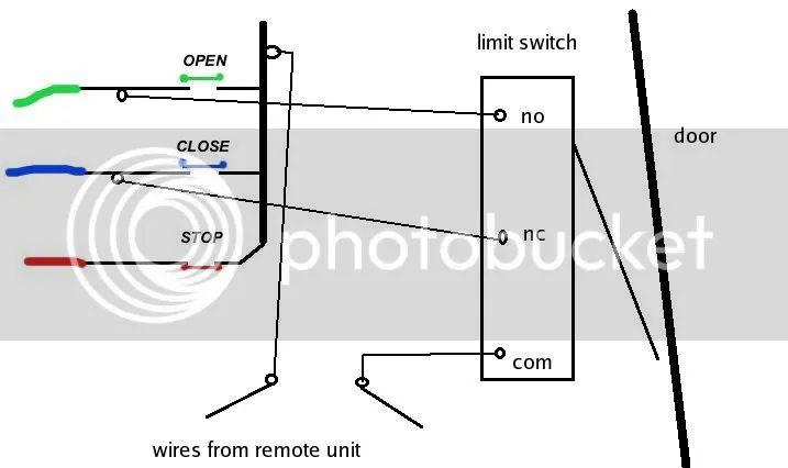 garage door wiring diagram