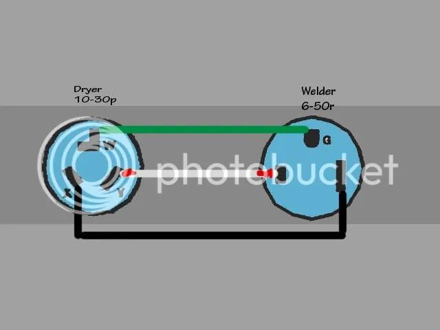 connecting dryer to welder, need plugs