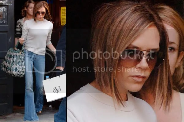 Victoria Beckham in aviator sunglasses
