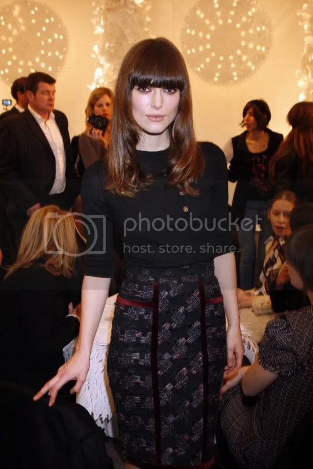 Keira Knightley at Chanel Haute Couture S/S 2009
