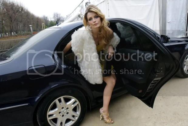 Mischa Barton attends the Dior Haute Couture S/S09 show in Paris