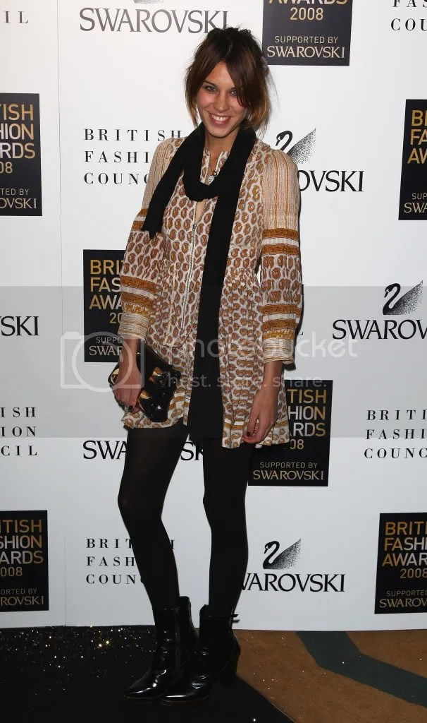 Alexa Chung at the British Fashion Awards - Nov 2008