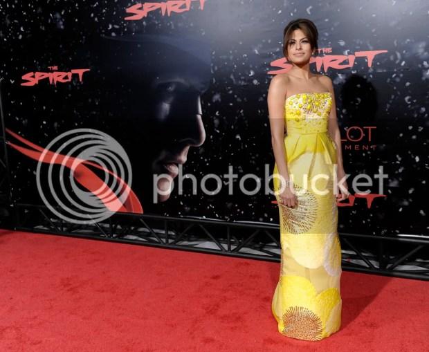 Eva Mendes at The Spirit premiere in LA