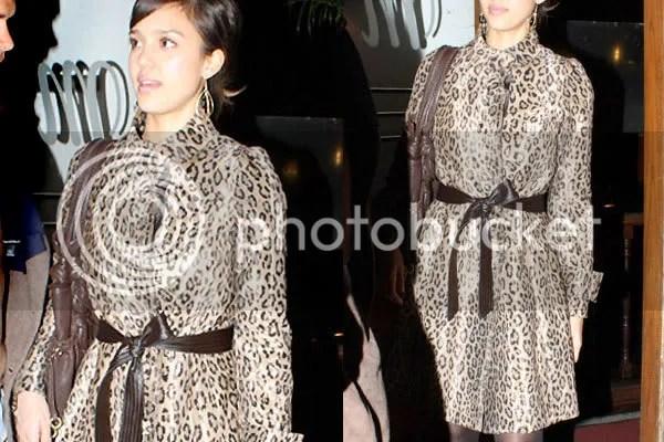 Jessica Alba leopard print
