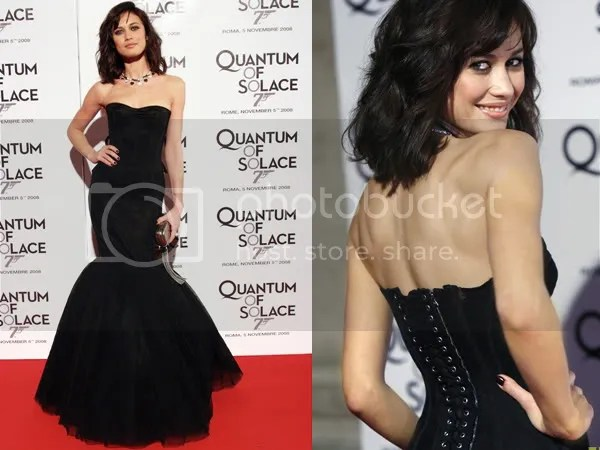Olga Kurylenko in Dolce & Gabbana dress in Rome for Quantum of Solace