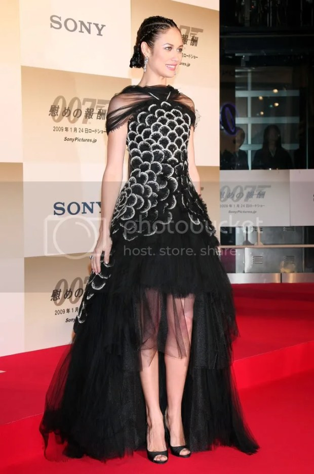 Olga Kurylenko at the Quantum of Solace premiere in Tokyo