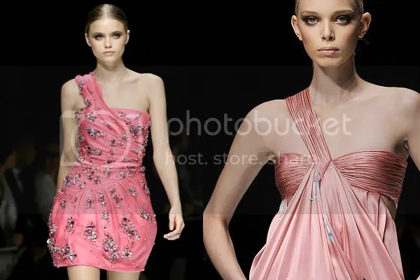 Versace Spring/Summer 2009 one-shouldered dresses