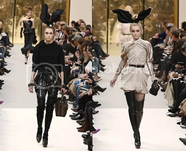Louis Vuitton bunny ears on the runway