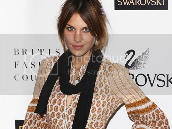 Alexa Chung at the 2008 British Fashion Awards