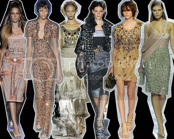 Bejewelled clothing on the runway, Spring/Summer 2009