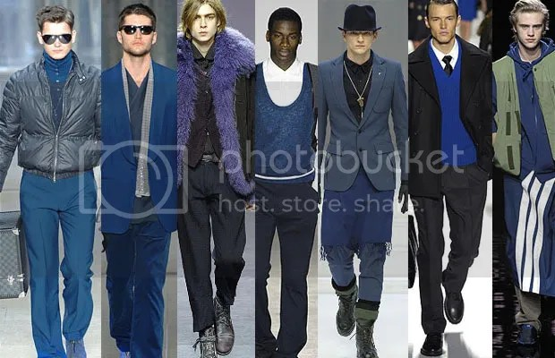 Blue trend for men