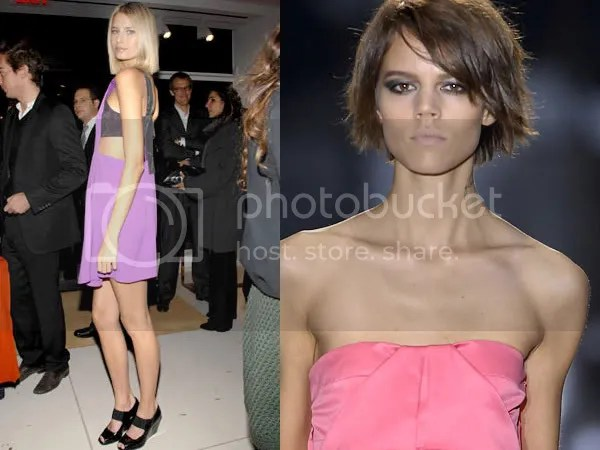 Supermodels with bob haircut fashion trend