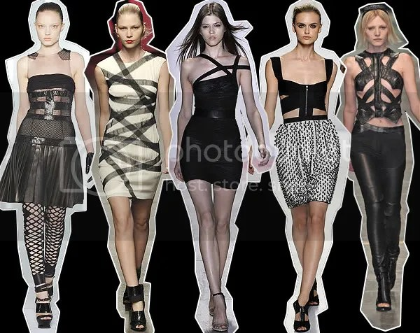 Fetish clothing and bondage s/s 2009 runway fashion trend
