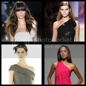 Single one shoulder dresses catwalk fashion designers