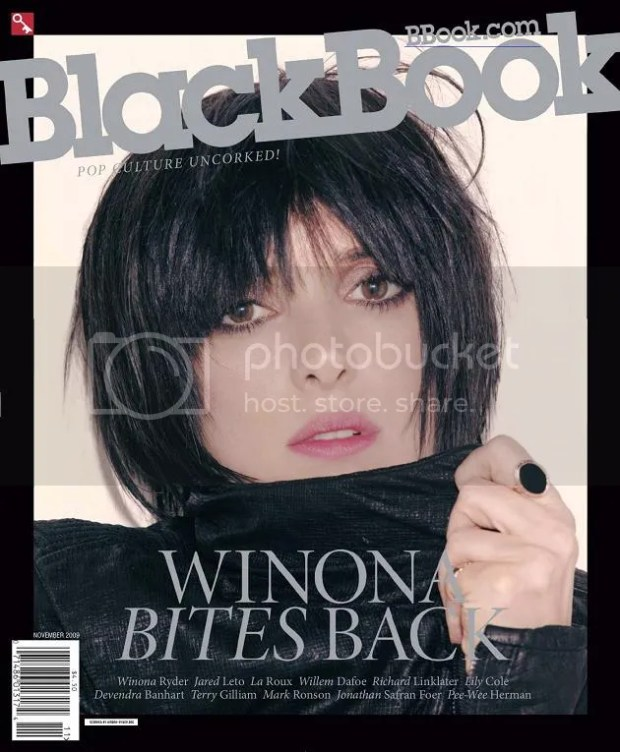 Winona Ryder: BlackBook Magazine November 2009