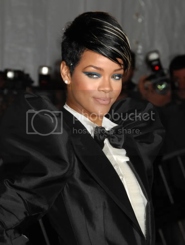 Rihanna at the 2009 MET Costume Institute Gala, May 2009