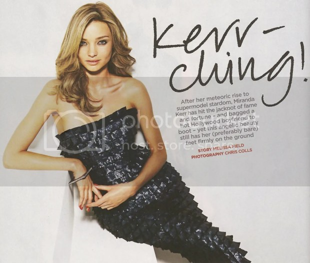 Miranda Kerr in the Herald Sun SUNDAY Magazine: October 11, 2009