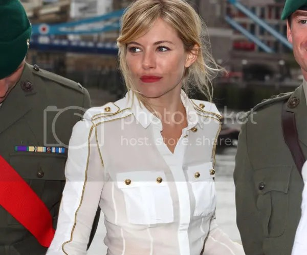 Sienna Miller in the military trend